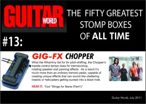 GuitarWorld Magazine - 50 Greatest pedals